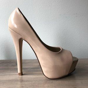 """Aldo """"Withey"""" Beige Heels, Women's Size 5"""